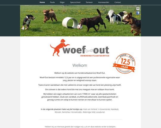 Hondenuitlaat Woef Out Logo