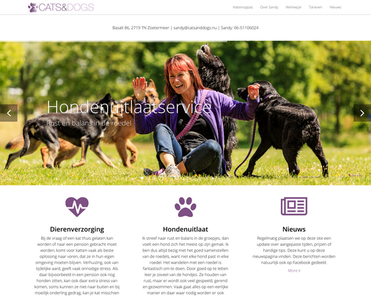 Hondenuitlaatservice Cats & Dogs Logo