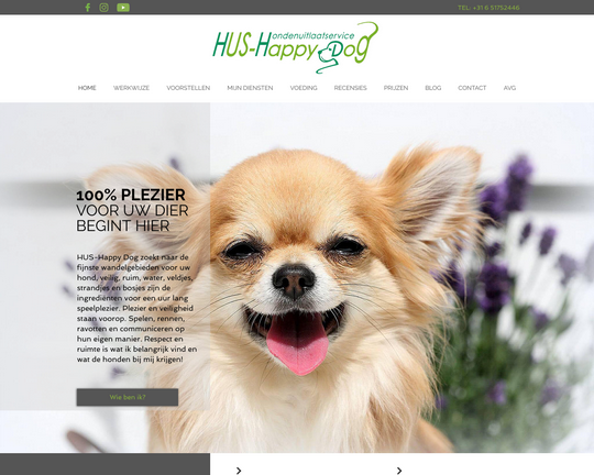 Hondenuitlaatservice Happy Dog Logo